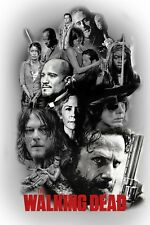 The Walking Dead - Top Zombie Tv Series Fan Art Large Poster / Canvas Pictures