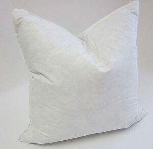 "2 x Duck Feather Cushion Pad Insert Inner - 22"" x 22"" (55x55cm) Machine Washable"
