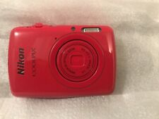 Nikon COOLPIX S01 Digital Compact Camera Cherry RED-New In Open Box, FAST SHIP!
