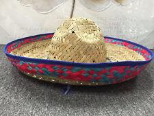 1x Mexican Spanish Straw Sombrero Hat Fiesta Fancy Dress Halloween Party Costume