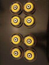 LABEDA WHEELS Inline Roller Hockey DYNASTY 3 80mm Yellow/black 8-Pack  Bearings