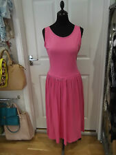 Bruna Cavvalini Dress in Pink Cotton with Low Back Vintage Summer Wear Size M/L