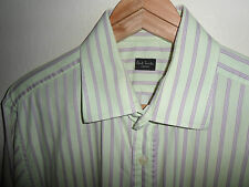 Paul Smith Da Uomo Camicia A Righe Camicia Manica Lunga Taglia Large L 16-MADE IN ITALY