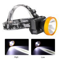 LED USB Wiederaufladbar Stirnlampe Kopflampe Scheinwerfer Einstellbar Camping DE