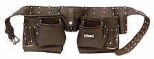 "10 Pocket Tool Professional Pouch Double Oil Tanned Leather Belts 38""-49"" ROLSON"