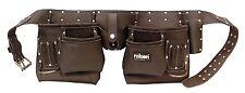 10 Herramientas De Bolsillo Profesional Bolsa Doble Aceite curtido Cinturones De Cuero-Rolson