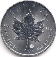 2015 Fine Silver 1oz Maple Leaf Canada $5 Dollar Coin Bullion AUCTION1
