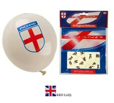 30 ENGLAND BALLOONS St Georges Day Football World Cup Rugby Party Decorations UK