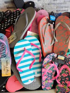 Wholesale Men, Women, Girls & Boy Flip Flops Assorted Colors & Sizes Lot of 50