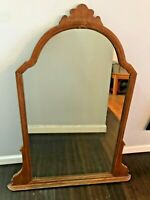 Antique Carved Farmhouse Tall Wood Mirror Ornate LARGE Baroque Wall Fireplace