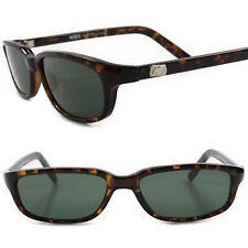 Classic Genuine Vintage Deadstock Green Lens Tortoise Frame Rectangle Sunglasses