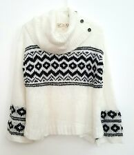 Women's Sweater Size S Ivory / Black combo by Pink Republic, Retail $44