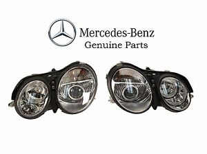 Pair Left & Right Genuine OEM Headlights For Mercedes Benz CL500 CL55 CL600 CL65
