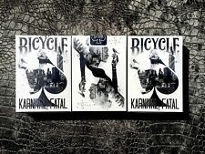 Bicycle Karnival Fatal Deck TRIPLE Pack- RARE - NEW FOR 2017 - FREE SHIPPING