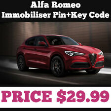 Alfa Romeo  Immobiliser Pin+Key Code