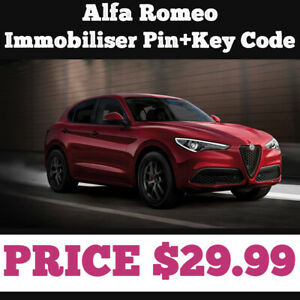 Alfa Romeo  Immobiliser Pin+Key Code