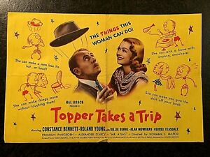 TOPPER TAKES A TRIP 1938 MOVIE HERALD - CONSTANCE BENNETT, ROLAND YOUNG