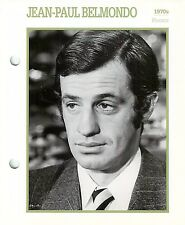 """Jean-Paul Belmondo Actor Movie Star Card Photo Front Biography on Back 6 x 7"""""""
