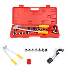 Plumbing Pipe Expander Tool 7 Lever HVAC Copper Heads Tube Swaging Kit