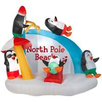 7.5 FT Penguin Playing North Pole Beach Christmas Airblown Inflatable Decor Yard