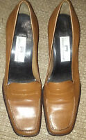 """ETIENNE AIGNER """"DIPLOMAT"""" BROWN LEATHER SLIP ON LOAFERS 2 3/4"""" HeeL Size 6.5 M"""