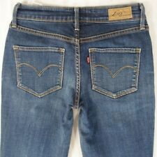 Ladies Womens Levis BOLD CURVE STRAIGHT Stretch Blue Jeans W28 L32 UK Size 8