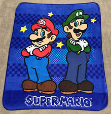 HUGE Super Mario Bros with Luigi Soft Throw Blanket 60x46 Inches Nintendo, New