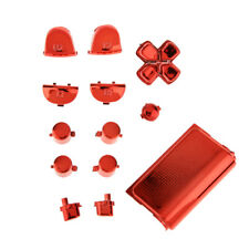 Red Full Button Custom Mod Kit Set For Sony PS4 Controller Game Controller