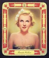 Renate Müller 1934 Garbaty Film Star Series 2 Embossed Cigarette Card #15