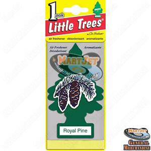 2pk Little Trees - Royal Pine Scent Car Mirror Hanging Air Freshener Home Office