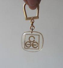 Porte Clé Bourbon CGE Compagnie Générale d'Electricité Keychain Key ring 1960s