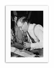 Musica Jazz Clarinetto legenda Benny Goodman POSTER VINTAGE MUSIC STAMPE SU TELA ART