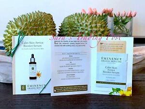 6 Eminence Calm Skin Arnica Booster SERUM Card Samples 2ml/.07oz ea Fresh + 🎁