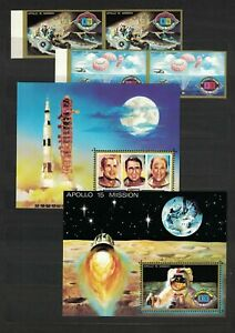 UMM AL QIWAIN Apollo 15 Lot,  Universe, Mix MNH #GYM#