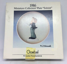 "Vintage 1986 Goebel Miniature Collectors' Plate ""soloist"" With Box"