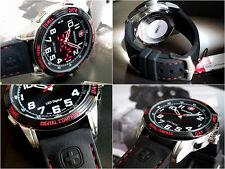 Wenger Unisex 70430 Analog-Digital Display Swiss Army Quartz Black red Watch