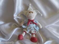 Doudou lutin, personnage, bleu, blanc et grenat, Baby Nat, (Babynat)