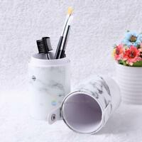 PU Leather Makeup Brush Pen Holder Empty Storage Box Organizer Cosmetic Cup Case