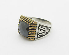 925 sterling silver with square  black onyx  size 10  men ring