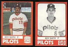 1980 Roy Smith Card Lot (2) - Mount Vernon NY, Fordham U, Indians Twins, AJ39