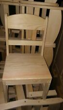 wooden childs chair's with round back unfinished functional boys & grils USA