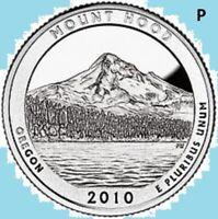 2010 P Quarter MT HOOD  NATIONAL PARK ATB Mount Hood Philadelphia  ~ UNC 2nd