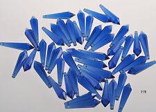 50 Blue Chandelier Glass Crystals Bottom Lamp Prisms Hanging Light Pendant 55mm