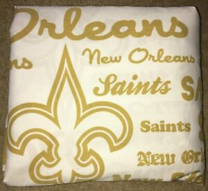 GOLD/WHITE NEW ORLEANS SAINTS SHEET 79x93 Craft Fabric NORTHWEST MAKEITOFFICIAL