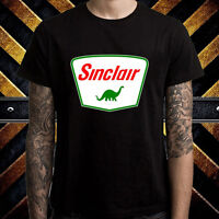 Sinclair Dino Gasoline Company Logo Men's Black T-Shirt Size S to 3XL