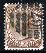 NATAL SOUTH AFRICA QV 1878 4d. Brown VARIETY PERF 12½ Wmk Crown CC SG 69a VFU