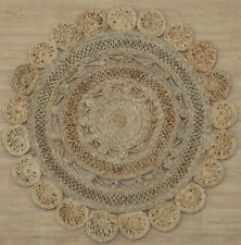Hand Made 3.10 X 3.10 Ft Round Shape Durable Jute Rug