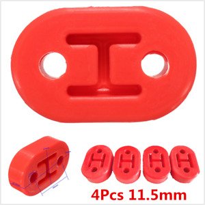 Universal 11.5mm EXHAUST MUFFLER POLY-URETHANE HANGER RED 4PCS