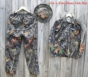 Mossy Oak Break-up Suit Bundle Water Proof for Hunting Camping Fishing