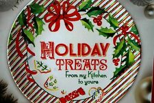 """Lenox """"Home for the Holidays"""" Christmas Cookie Platter, Serving Tray, Round New"""